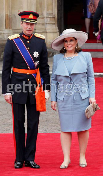 Henri,-Grand-Duke-of-Luxembourg-(L)-and-Maria-Teresa,-Grand-Duchess-of-Luxembourg